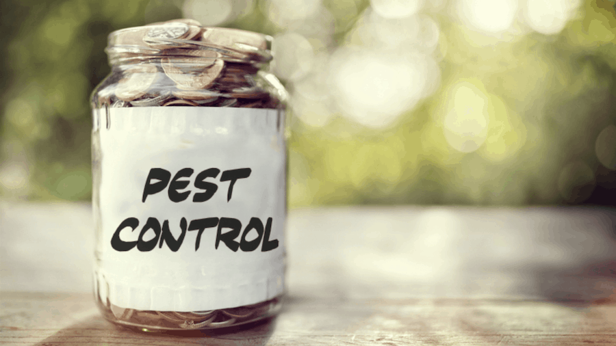 Charges for pest control services